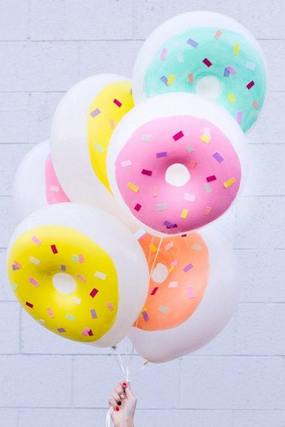 Image of {Donut} Latex Balloons