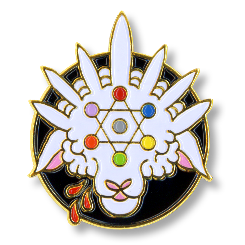 Image of Behold The Lamb Enamel Pin