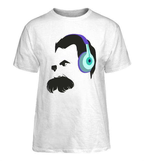 Image of Audiophile Nietzsche Shirts — White