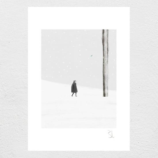Image of Winter Leaf Print