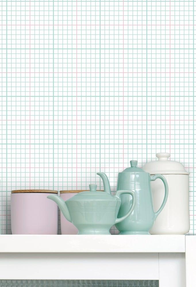 Image of Homework Wallpaper - Pale Verdigris