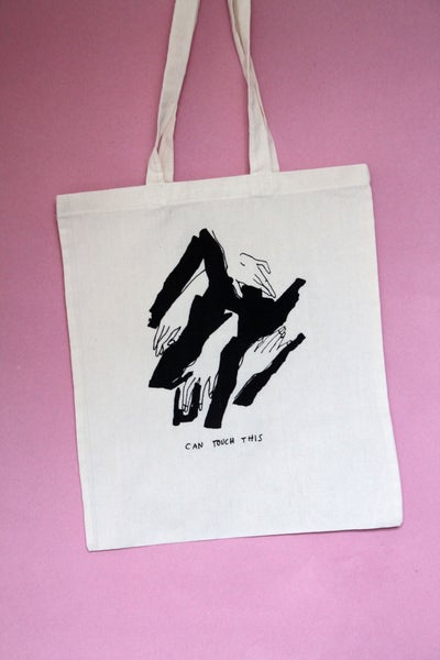 Image of all printed totes