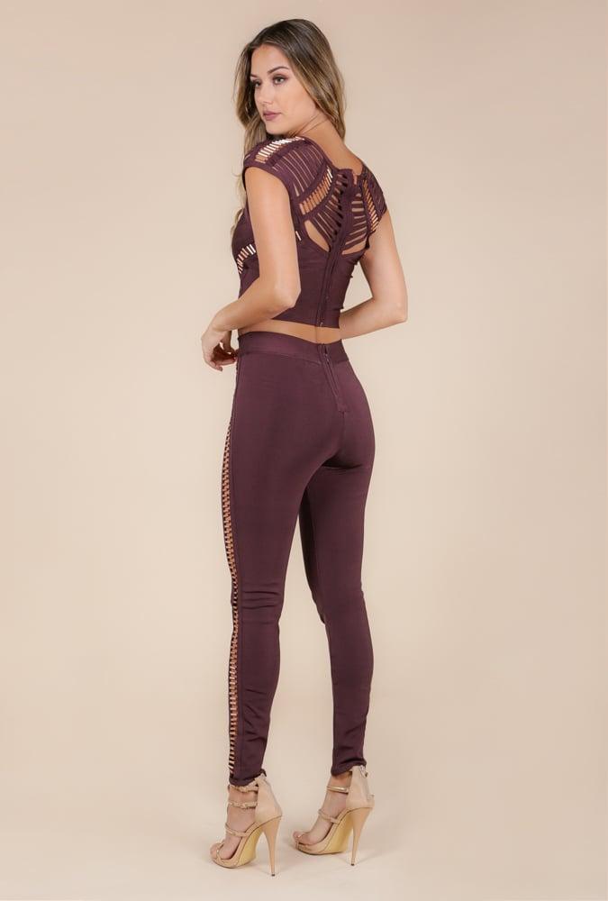 Image of Dark Oak Copper Bandage Two-piece pants set