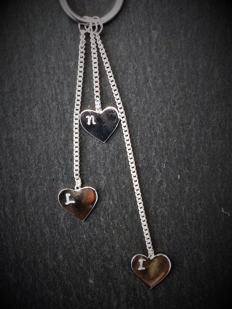 Image of Personalised Love Heart Necklace