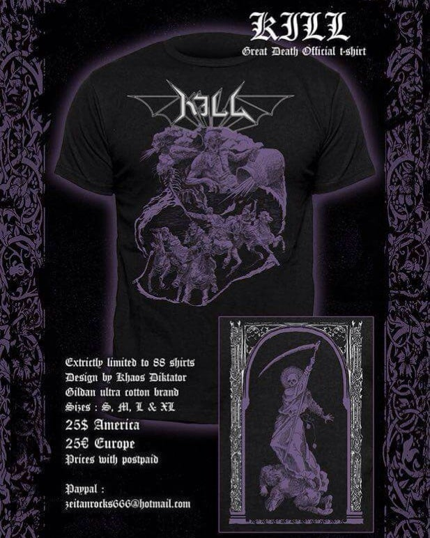 Image of Kill - Greath Death - official Tshirt (pre-order)