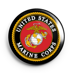 Image of 2.25 inch MARINES Button/Magnet/Bottle Opener/Compact Mirror