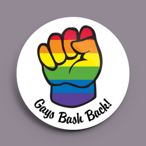 Image of 2.25 inch Gays Bash Back! Button/Magnet/Bottle Opener/Compact Mirror