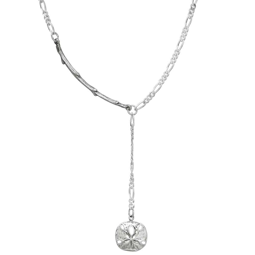 Image of SILVER SEASHELL LARIAT NECKLACE