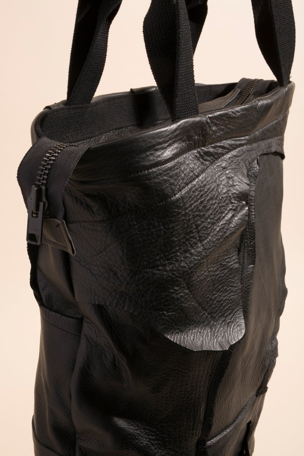 Image of Zipper Tote - Patchwork Leather
