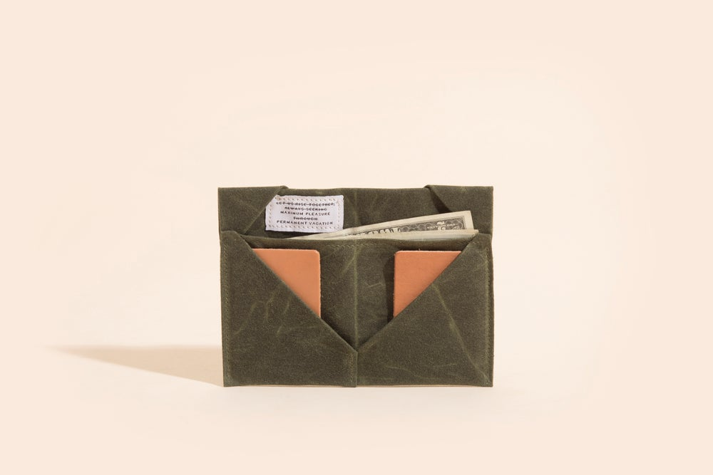 Image of Diamond Billfold - Olive