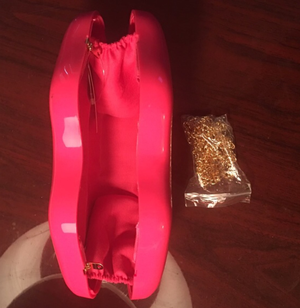 Image of Hot Pink Heart Clutch