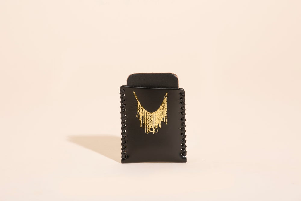 Image of Card Carry No. 01 - Black - Gold Chains