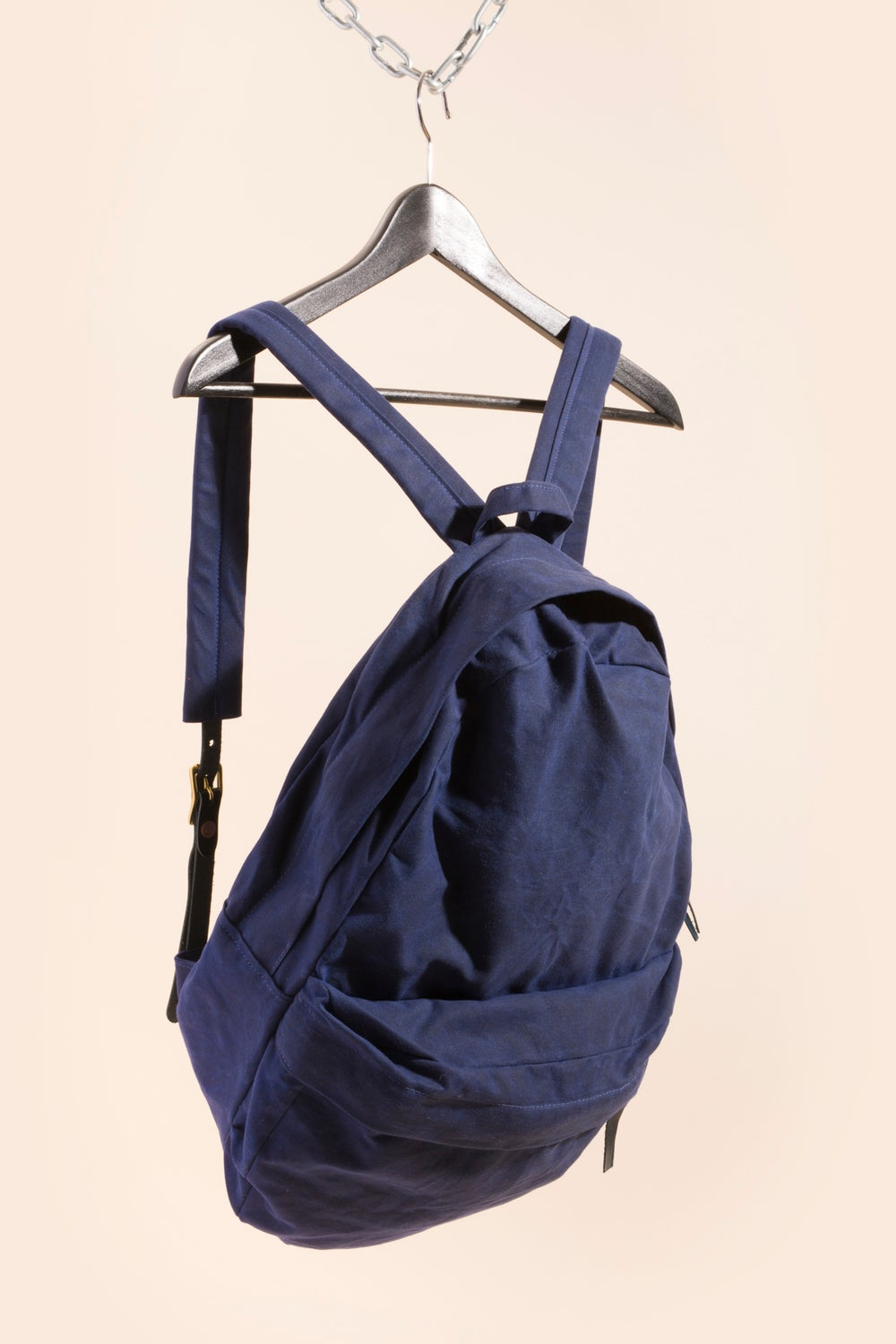 Image of Backpack - Navy Waxed Canvas