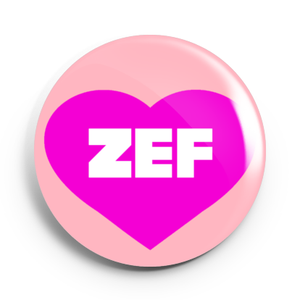 Image of 2.25 inch Zef Heart Button/Magnet/Bottle Opener/Compact Mirror