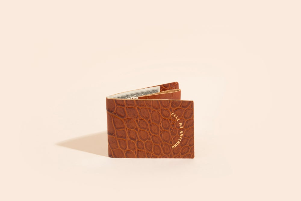 Image of Seamless Billfold - Embossed Cowhide