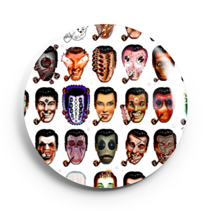 Image of 2.25 inch Bob Dobbs/Church of the Subgenius Button/Magnet/Bottle Opener/Compact Mirror
