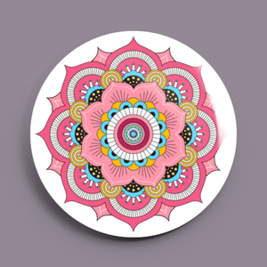 Image of 2.25 inch Pink Mandala Button/Magnet/Bottle Opener/Compact Mirror