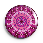 Image of 2.25 inch Purple Mandala  Button/Magnet/Bottle Opener/Compact Mirror