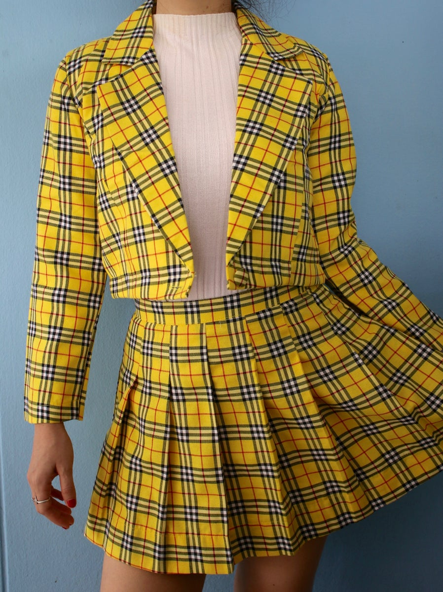 Clueless Inspired Tartan Outfits Glitters For Dinner