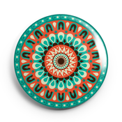Image of 2.25 inch Green Mandala Button/Magnet/Bottle Opener/Compact Mirror