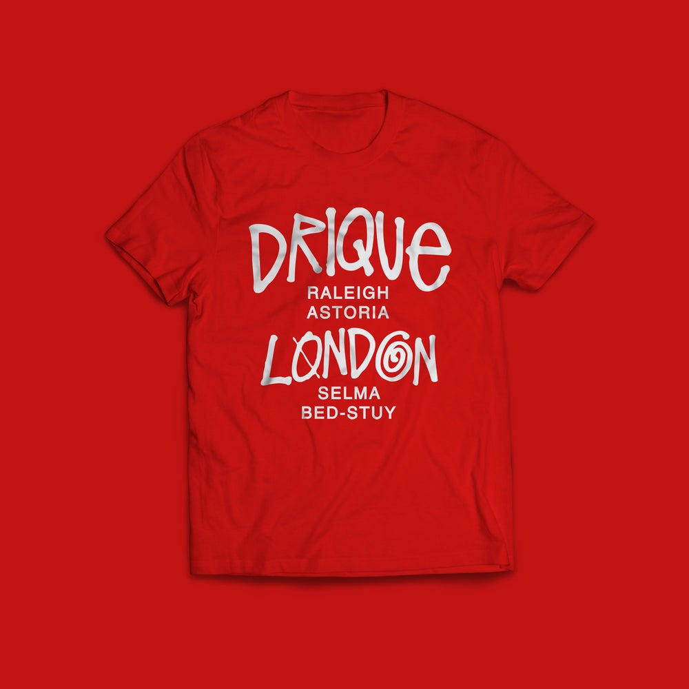 "Image of Drique London Drique London ""The Town"" Tee (RED)"