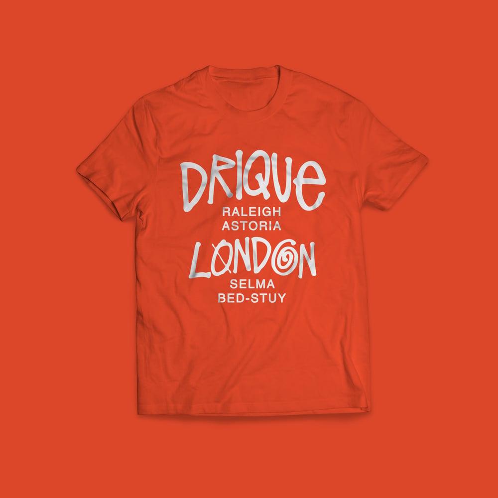 """Image of Drique London Drique London """"The Town"""" Tee (ORANGE)"""