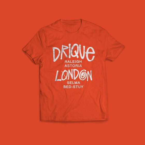 "Image of Drique London Drique London ""The Town"" Tee (ORANGE)"