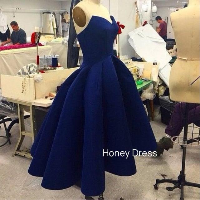7c8030c6081 Honey Dress — Charming Red Satin High Low Prom Dress