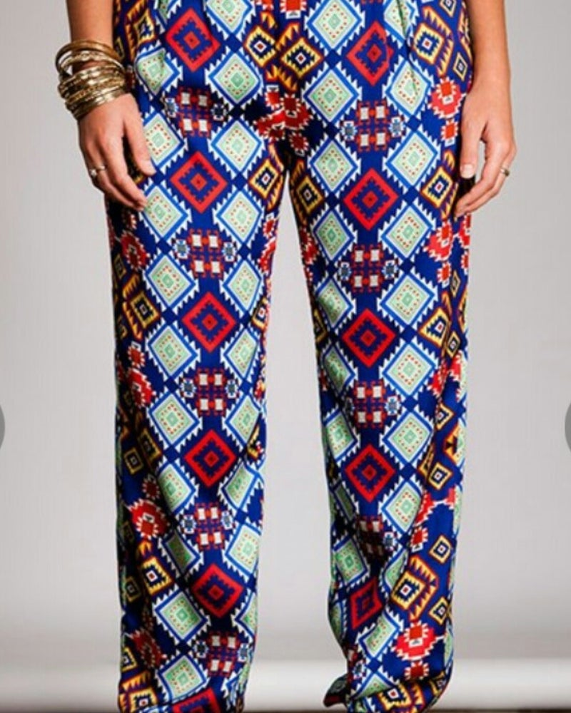Image of Aztec Printed Pants