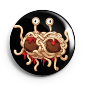 Image of 2.25 inch Flying Spaghetti Monster Button/Magnet/Bottle Opener/Compact Mirror