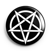 Image of 2.25 inch Inverted Pentagram Button/Magnet/Bottle Opener/Compact Mirror