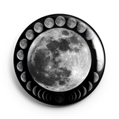 Image of 2.25 inch Lunar Phases Button/Magnet/Bottle Opener/Compact Mirror