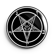 Image of 2.25 inch Baphomet Pentagram Button/Magnet/Bottle Opener/Compact Mirror
