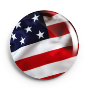 Image of 2.25 inch American Flag Button/Magnet/Bottle Opener/Compact Mirror