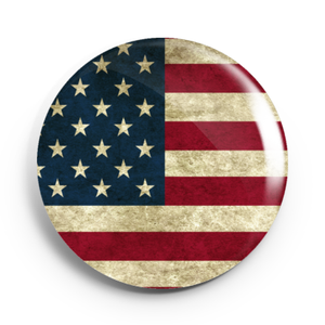 Image of 2.25 inch Vintage American Flag Button/Magnet/Bottle Opener/Compact Mirror