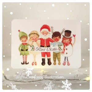 Image of Personalised Christmas Group Card