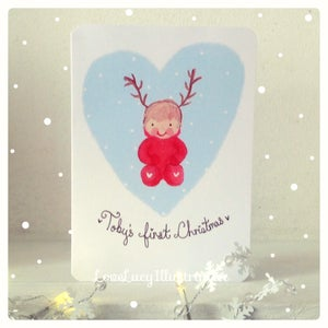 Image of Personalised Baby's First Christmas Card