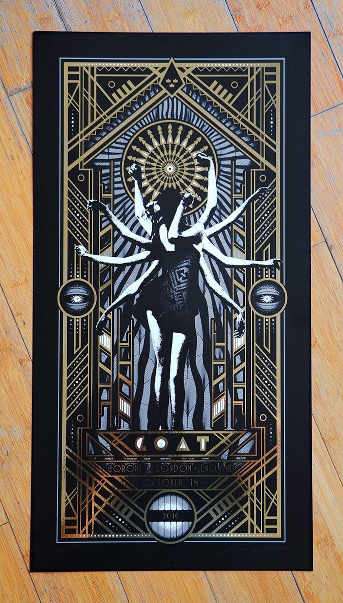 Image of Goat SIlkscreen Poster London October 18 2016 Coronet