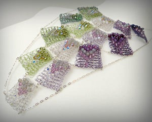 Image of PURPLE MOSS WATERFALL  Necklace