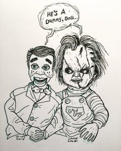 Image of DRAWLLOWEEN 2016: HE's A DUMMY, DOLL original