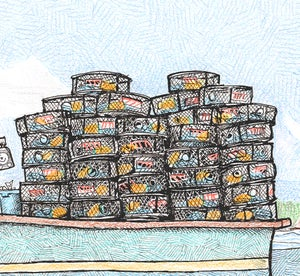 """Image of Pots on Deck  8 1/2"""" X 11"""""""