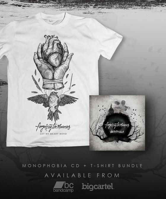 "Image of Monophobia CD + T-Shirt Bundle - ""Let My Heart Mend"""