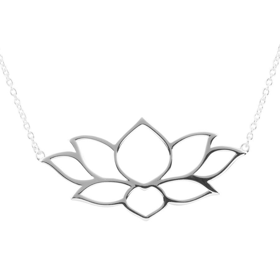 Image of Sterling Silver Lotus Necklace