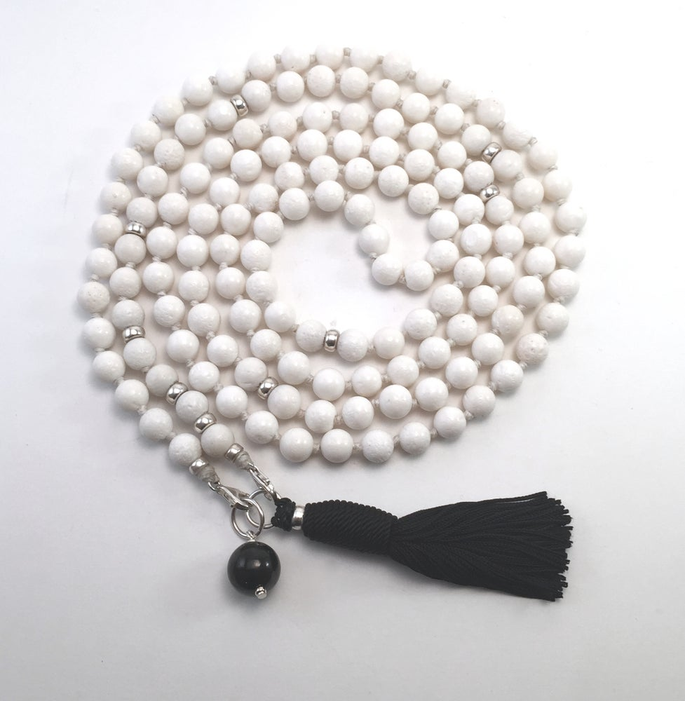 Image of Infinite Journey White Coral Mala