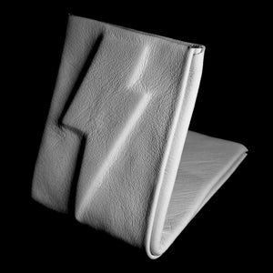 Image of White leather embossed bolt wallet