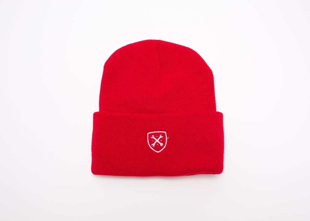 Image of MANIACS Red Beanie