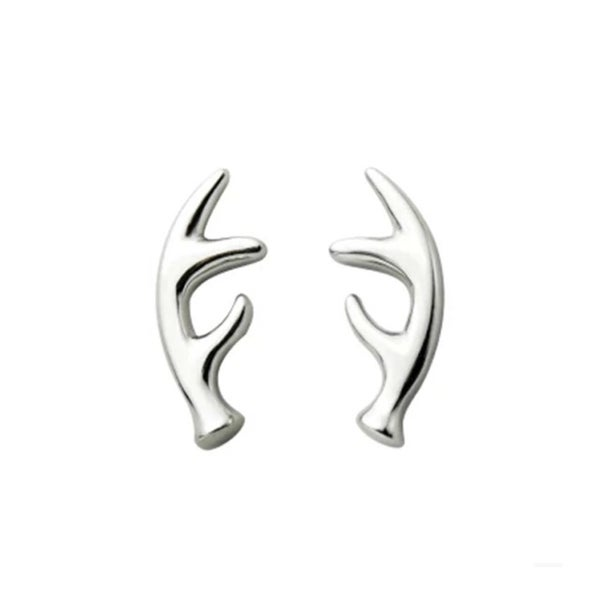 Image of Silver Antler earrings