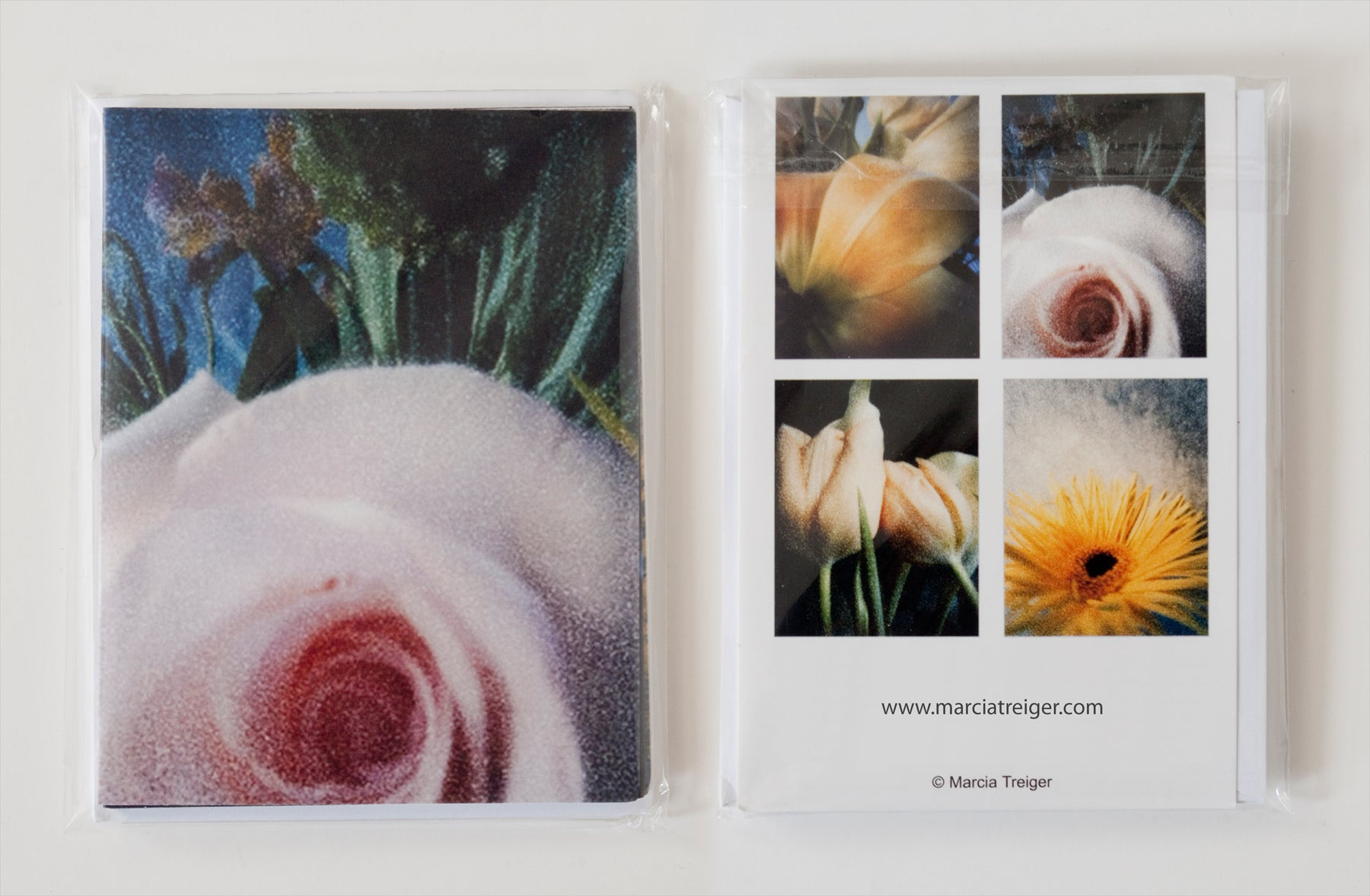 Set of 4 Cards - Flowers