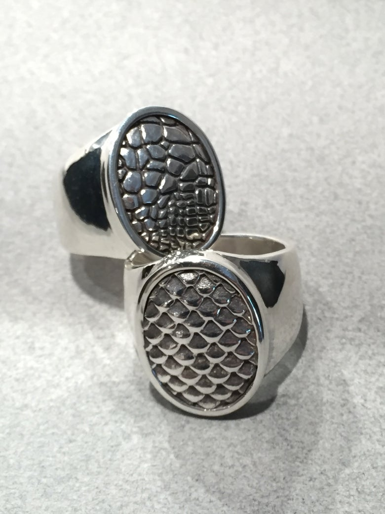 Image of Mens Animal Pattern Rings