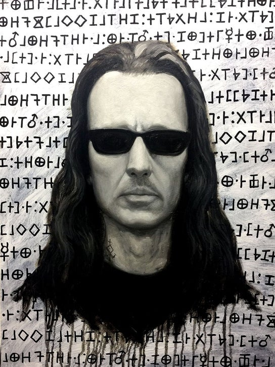Image of Chet Zar / Damien Echols collaboration original art